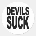 Los diablos chupan etiquetas redondas