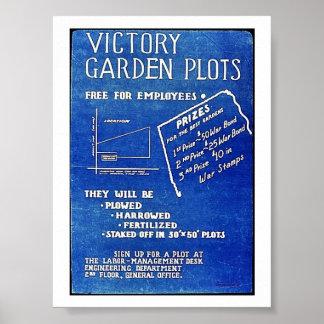 Los diagramas del jardín de victoria, liberan para póster