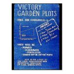 Los diagramas del jardín de victoria, liberan para tarjeta postal