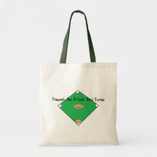 Los diamantes de béisbol son los mejores amigos de bolsa tela barata