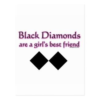 Los diamantes negros son un mejor amigo de los tarjeta postal