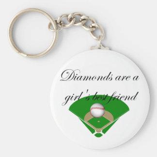 Los diamantes son camisetas del mejor amigo de un  llavero