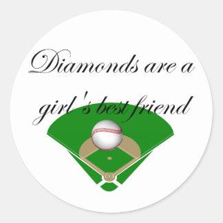 Los diamantes son camisetas del mejor amigo de un pegatina redonda