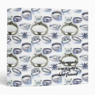 """Los diamantes son cuaderno del mejor amigo de un c carpeta 1 1/2"""""""
