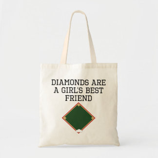 Los diamantes son el mejor amigo de un chica bolsas de mano