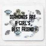 Los diamantes son el mejor amigo de un chica tapetes de ratones