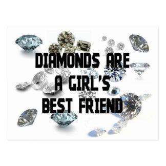 Los diamantes son el mejor amigo de un chica tarjeta postal