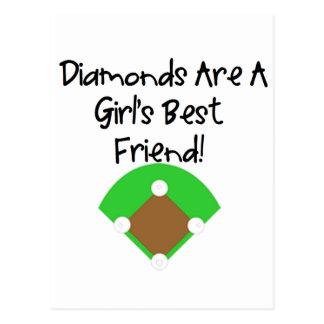 ¡Los diamantes son el mejor amigo de un chica Postales