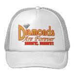 Los diamantes son Forever Gorro De Camionero