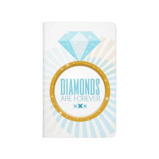 ¡Los diamantes son forever! Pequeño diario Cuadernos Grapados