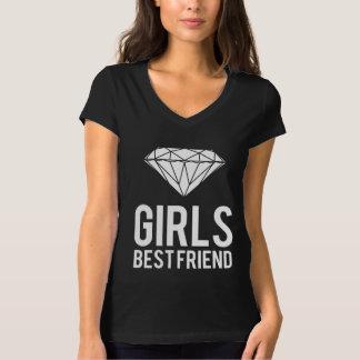 Los diamantes son mejor amigo de los chicas playera