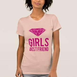 Los diamantes son mejor amigo de los chicas camisetas