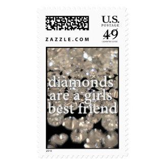 Los diamantes son un mejor amigo de los chicas sello