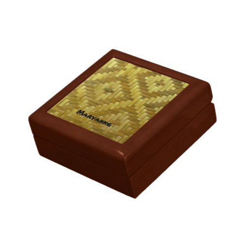 Los diamantes tejidos 3D frescos de la rota modela Caja De Recuerdo