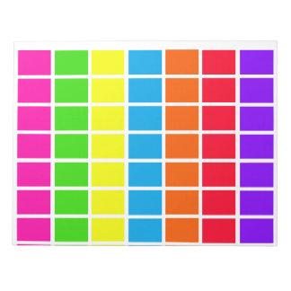 Los días de calendario del codificado por color de bloc