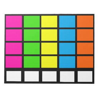 Los días de calendario del codificado por color de blocs de notas