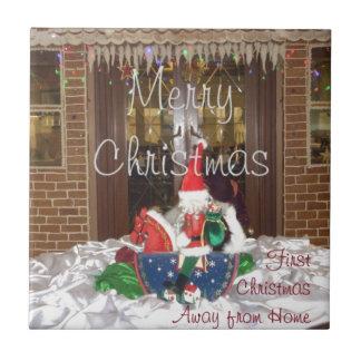 Los días de fiesta de las Felices Navidad de fuera Azulejo Cuadrado Pequeño