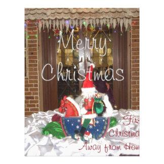 Los días de fiesta de las Felices Navidad de fuera Membretes Personalizados