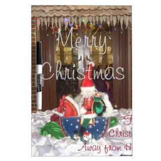 Los días de fiesta de las Felices Navidad de fuera Pizarra Blanca