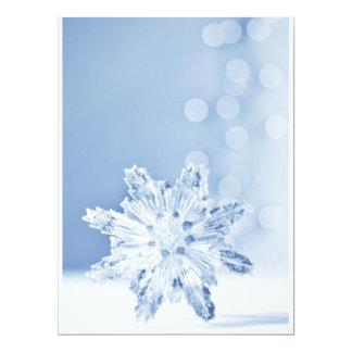 """Los días de fiesta festivos del copo de nieve invitación 6.5"""" x 8.75"""""""