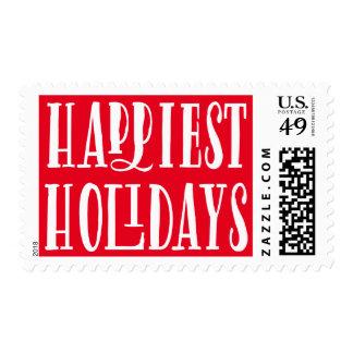 Los días de fiesta más felices sellos