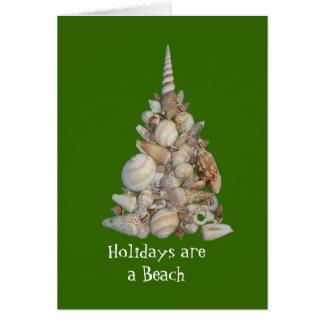 Los días de fiesta son una tarjeta de la playa
