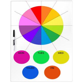 Los días de la cocina de la nota de Colorwheel de Pizarras