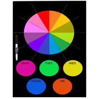Los días de la cocina de la nota de Colorwheel de Pizarras Blancas De Calidad