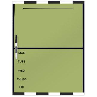Los días del proyecto que la semana hace tableros blancos