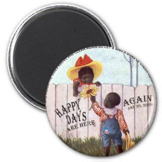 Los días felices americana negros de Obama están a Imán Redondo 5 Cm