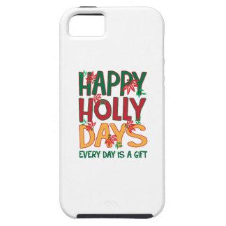 Los días felices del acebo cada día es regalo iPhone 5 funda