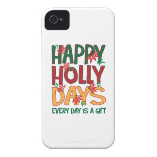 Los días felices del acebo cada día es regalo iPhone 4 protector