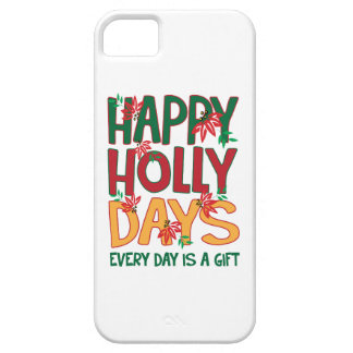 Los días felices del acebo cada día es regalo iPhone 5 cárcasas