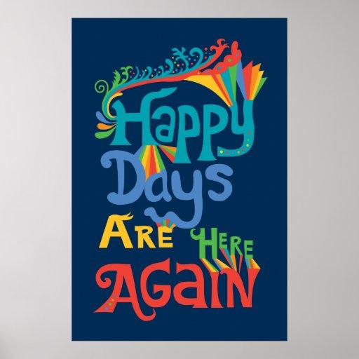 Los días felices están aquí otra vez - marina de g posters