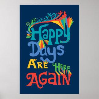 Los días felices están aquí otra vez - marina de g póster