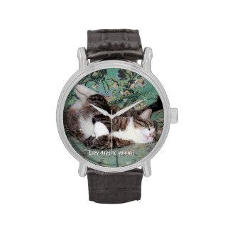 Los días perezosos del gatito reloj