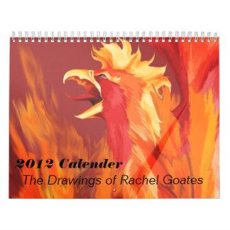 Los dibujos de Raquel Goates Calendario