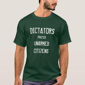 Los dictadores prefieren a ciudadanos desarmados playera