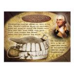 Los dientes de George Washington (dentaduras) Postal
