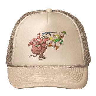 Los dientes del cazador en vez de los colmillos de gorra