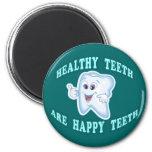 Los dientes sanos son dientes felices imán para frigorífico