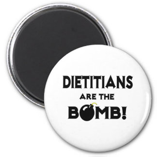 ¡Los dietético son la bomba! Imán Redondo 5 Cm