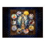 Los diez avatares de Vishnu - postal