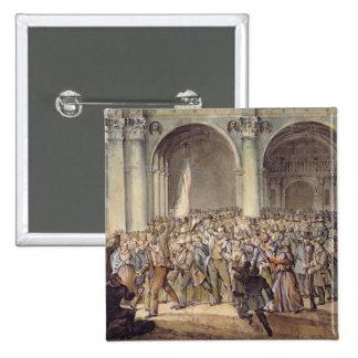 Los diez días de Brescia, después de 1849 Pin Cuadrada 5 Cm