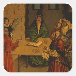 Los diez mandamientos, 1516 calcomanías cuadradas personalizadas
