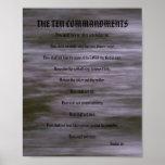 Los diez mandamientos - el gris raya el poster