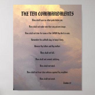 Los diez mandamientos - el tiempo se nubla el póster