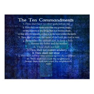 Los diez mandamientos enumerados postal