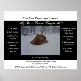 Los diez mandamientos mi mejor amigo me enseñaron poster