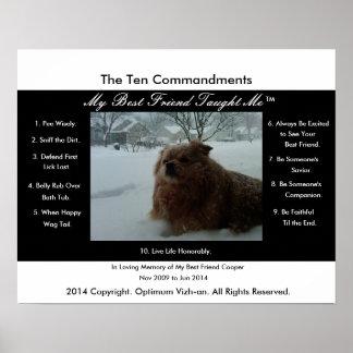 Los diez mandamientos mi mejor amigo me enseñaron impresiones